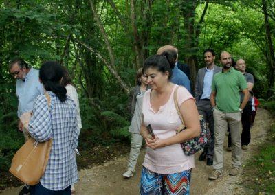 Grupo visitando Selva Asturiana el día de se inauguración